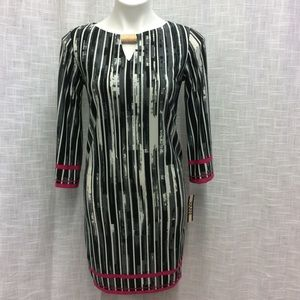 Haani Black, Gray, white and pink dress Size S